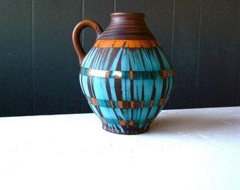 Vintage Carstens Tönnieshof Jug Vase Pattern 1522/14, West German Ceramics, Mid Century Modern Pottery