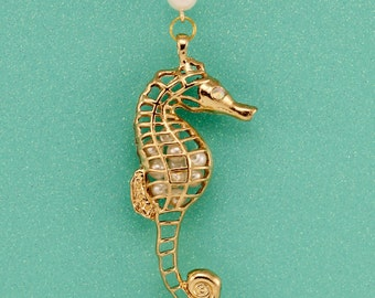 Beautiful Seahorse Interchangeable Lanyard Badge Holder Necklace