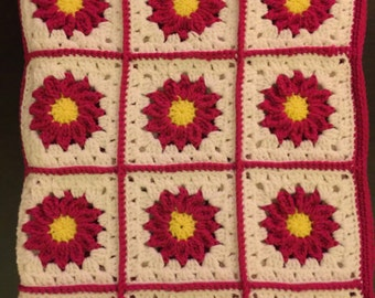 Pink Sunburst Baby Blanket