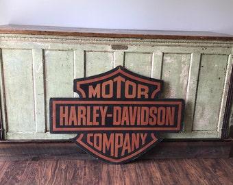 Harley Davidson Motor Company Cardboard Dealer Sign