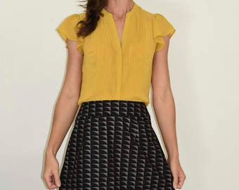 Black Skirt, Grey Skirt, A Line Skirt, Print Skirt, Short Skirt, Mini Skirt, Medium skirt, ork skirt