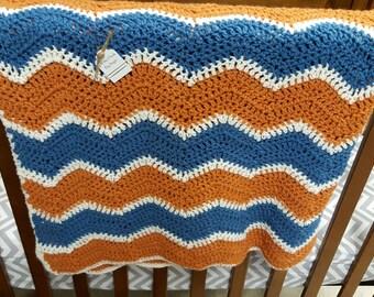 Custom Soft Ripple Baby Blanket