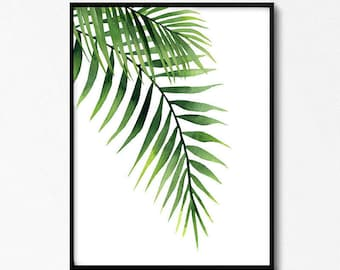 Palm Leaves, Palm Leaf Watercolors, Tropical Wall Art, Leaf Watercolors, Tropical Art, Palm Prints, Palms Poster, Green Wall Art, Posters,