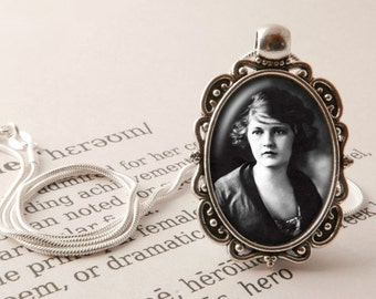 Zelda Fitzgerald Pendant Necklace - Zelda Necklace, Flapper Necklace, Jazz Age Jewelry, Flapper Pendant, Jazz Age Necklace, Flapper Jewelry