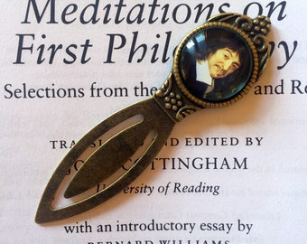 Rene descartes Bookmark - Rene Descartes Gift, Philosophy Bookmark, Meditations on First Philosophy Bookmark, Vintage Gift for Philosopher