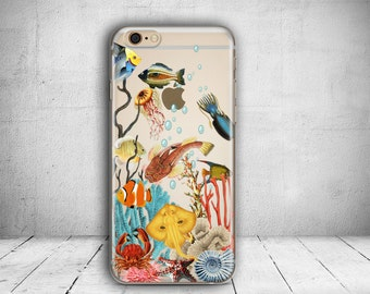 iPhone 7 Case Ocean Clear iPhone 7 Plus Case iPhone 7 Case Clear iPhone 6 Case iPhone 6s Case Silicone iPhone Case Christmas Gift // 271