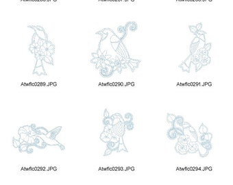 Birds-and-Flowers ( 10 Machine Embroidery Designs from ATW )
