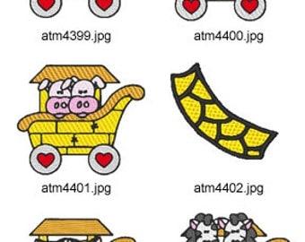 Noahs-Ark-Train-4  ( 6 Machine Embroidery Designs from ATW )  XYZ17D