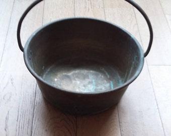 Vintage Copper Jam Pan Old Oxidised Copper Jelly Pan