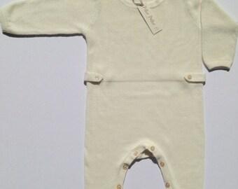 Organic babies Cashmere cotton knit romper