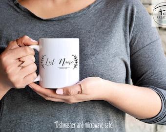 Last name Mug - Mr and Mrs Coffee Mug - Custom Coffee Mug - Personalized Mug - Mug - Wedding gift - Bride and Groom Mugs - Wedding Mugs