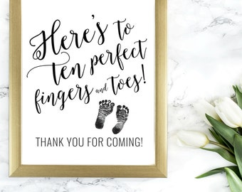 DIY PRINTABLE Baby Shower Thank You Sign| Calligraphy Welcome Sign | Instant Download Baby Shower Printable | Mommy to Be OB14