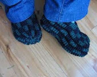 Made to Order Handknit Checkerboard Slippers