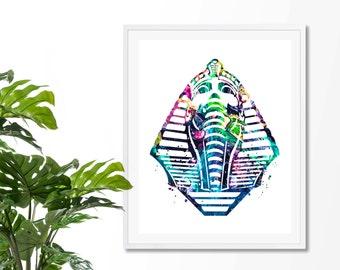 Egyptian Sphinx Watercolor Art Print, Egyptian Sphinx , Egyptian Sphinx Wall Art, Poster, Giclee,  Home Decor