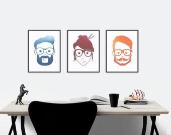 Geek Wall Art geek poster | etsy