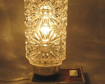 VINTAGE Graeve LAMP glass table lamp 1970s bedside table lamp Retro West Germany
