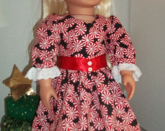 Christmas dress for 18 inch doll
