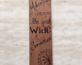 Custom Woodburned Bookmark