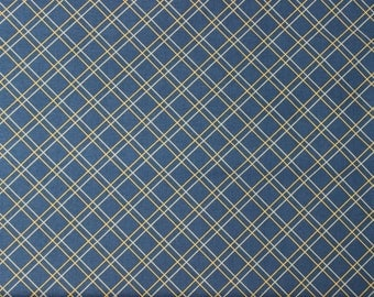 Hall of Fame by Emily Herrick for Michael Miller - Game Plaid Blue - Sold by the yard