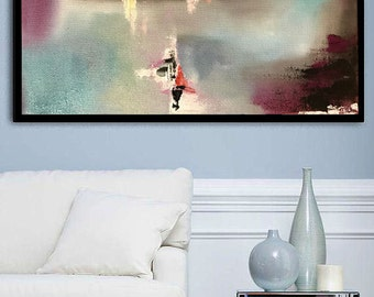 Abstract Print Art Large Abstract Painting Print On Canvas Wall Art Original Painting  by Julia Kotenko