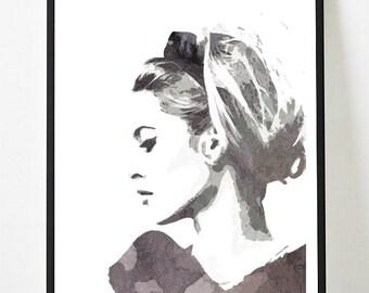 Poster modern poster of brigitte bardot, original and feminine decoration for the House.