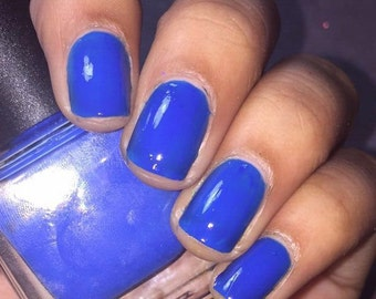 "Neon Blue Nail Polish ""Ink"""