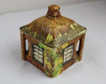 Price Bros, Cottage Ware, Covered Sugar Box, Vintage Cottage Ware, Burslem, Reg No 845007 1940's