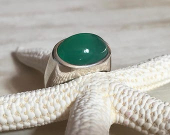 NAGPUR - Green Onyx ring
