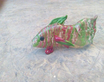 Red and Green Glass Fish