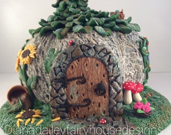 OOAK Polymer Clay Fairy House Collectable Hand Sculpted Fantasy