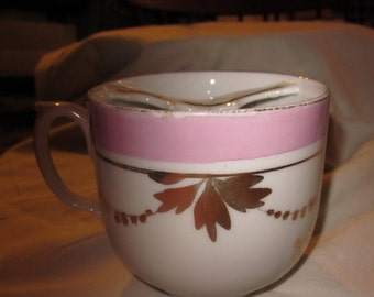 Forget Me Not antique mustache cup