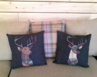Appliqued Stag Cushion