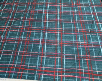 Skinny Plaid-Blue Cotton Fabric from Michael Miller