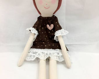 handmade doll /rag doll/fabric doll/cute doll/girl doll