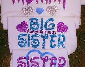 CUSTOM FAMILY SHIRTS. Disney family shirts. Big Sister Little Sister shirts. Sibling Shirts.