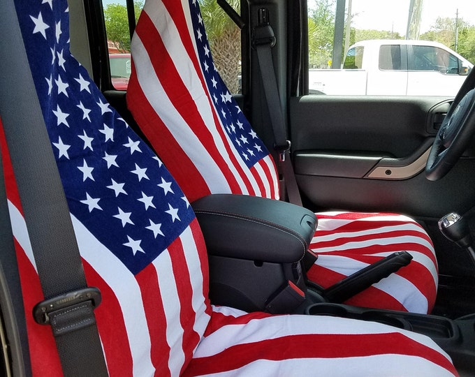 Towel Seat Covers Flags and Military