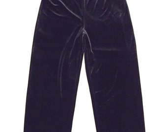 EXPRESS Velvet Black High Waist Wide Leg Women's Pants Size Large