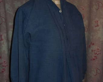old blue linen shirt for man