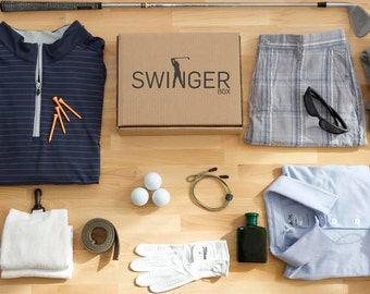 Swinger Box a-la-carte' - A Subscription Box for Golfers. A Shipment of our golf apparel and accessories. The perfect gift for a golfer!