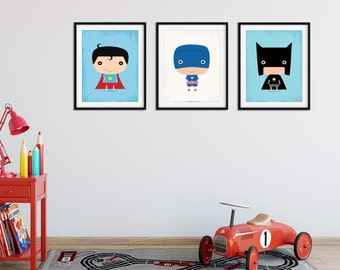Nursery Wall Art, Superhero Nursery Wall Art, Nursery Wall Art, Superhero Nursery Prints, Kids Room Prints, Nursery Prints, Modern Nursery