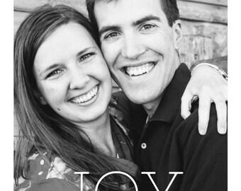 JOY | Custom Christmas Card
