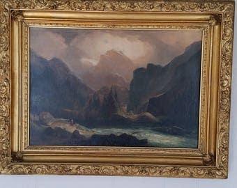 Oil Painting of Matterhorn Landscape