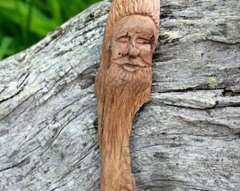Wood Carving Wood Spirit Folk Art Wood Sculpture