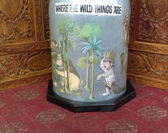 Decoupage Glass Dome Where The Wild Things Are