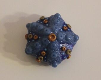 Sea Urchin, Beach Fairy, Polymer Clay Sea Life, Fairy Garden Accessory, Realistic Sea Creature, Fairy House, Garden Decor, Clay Sculpture