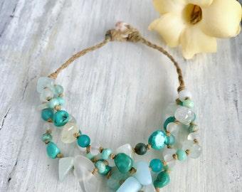 Turquoise Hawaiian mermaid bracelet - made in Hawaii