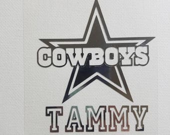 Dallas Cowboys Decal / Name decal / custom / yeti decal / car decal / laptop decal