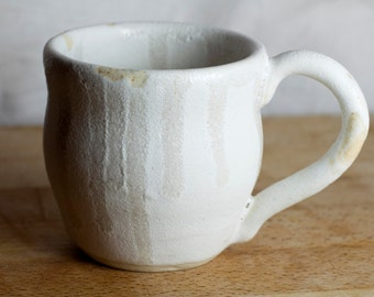 Pair of White Handmade Mugs
