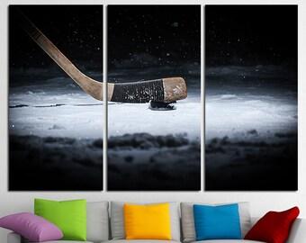 Hockey Canvas Winter Sport Hockey Wall Art Hockey Canvas Art Hockey Decor Hockey Washer Hockey Stick Hockey Photo Hockey Print Hockey Poster
