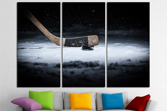 Hockey Canvas Winter Sport Hockey Wall Art Hockey Canvas Art Hockey Decor Hockey Washer Hockey Stick Hockey Photo Hockey Print Hockey Poster